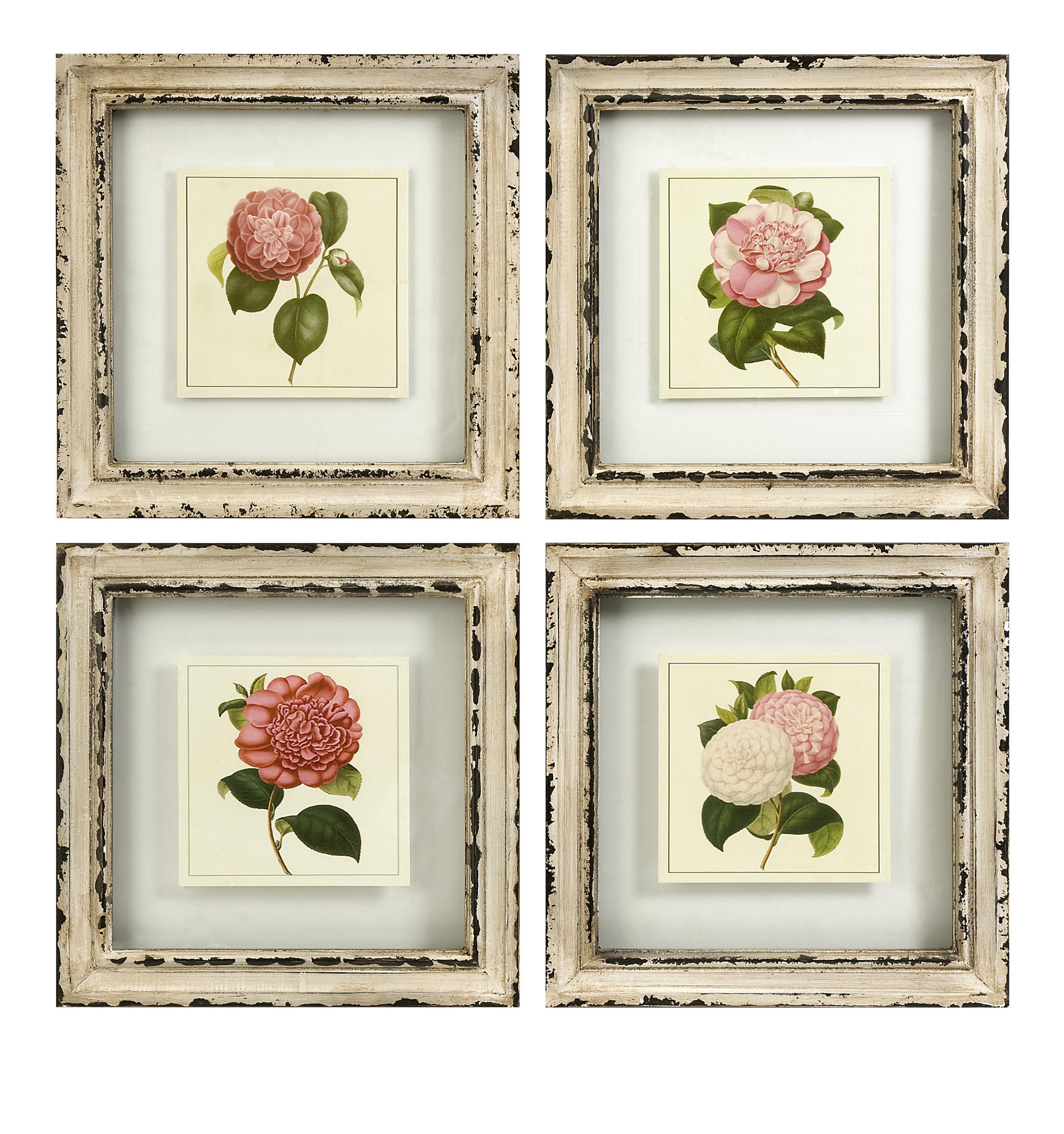 Artistic Styled Lynette Framed Artwork - Set of 4