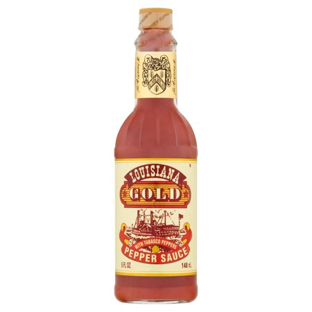 Louisiana Gold Pepper Sauce with Tabasco Peppers, 5 fl