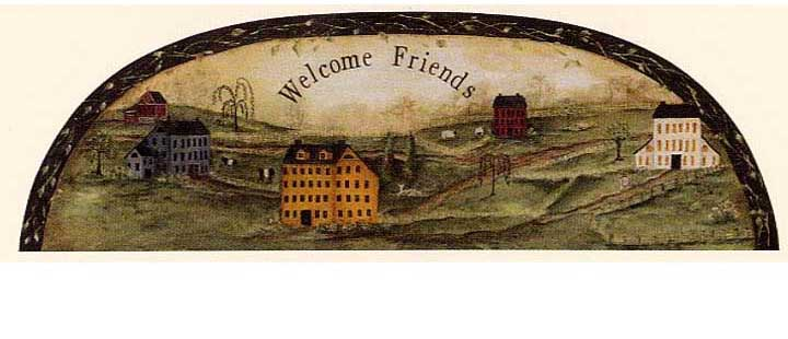 879497 Welcome Friends Sign Mural by York Wallcoverings Inc