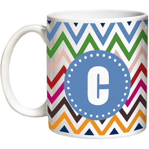 Personalized 15-Ounce Chevron Mug, Blue