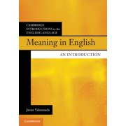 Cambridge Introductions to the English Language: Meaning in English: An Introduction (Paperback)