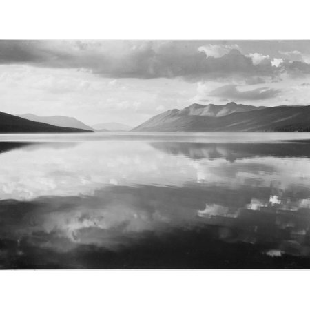Ansel Adams Black And White - Lake And Mountains