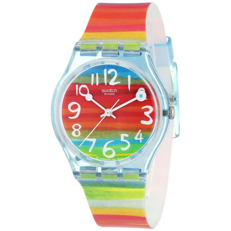 Swatch Women's Color The Sky Watch GS124 (gold watches for women swatch)