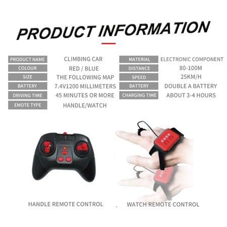 GW124 2.4Ghz RC Off-road Stunt Car Vehicle With Watch Remote Control Induction - image 3 de 5