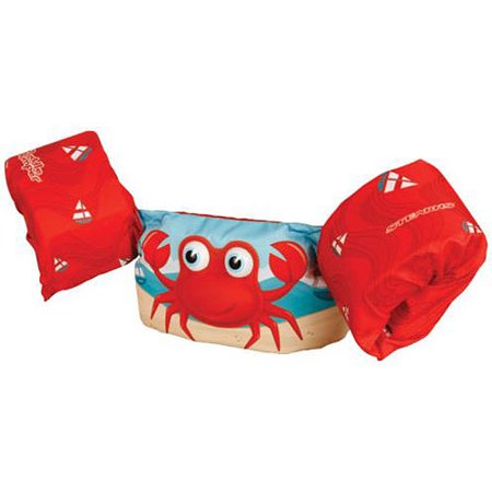 Puddle Jumper Kids Deluxe Life Vest with 3D Character for Children 30-50 Pounds, Crab