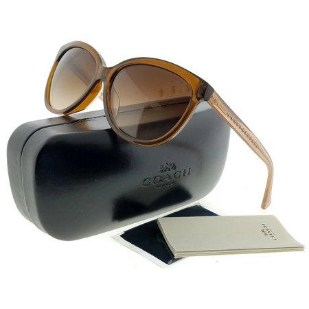 00031d03d8 Coach - COACH Sunglasses HC 8153F 532813 Brown Glitter Crystal Brown 57MM -  Walmart.com