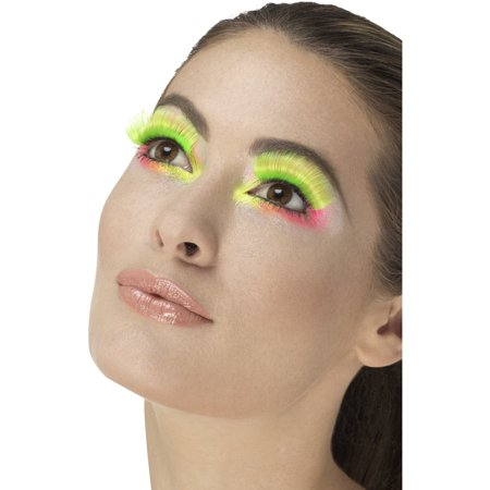 1980s Halloween Cartoons (1980s Style Long Neon Green Party Lashes Costume)