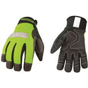 Safety Lime Waterproof Winter Gloves X-Large