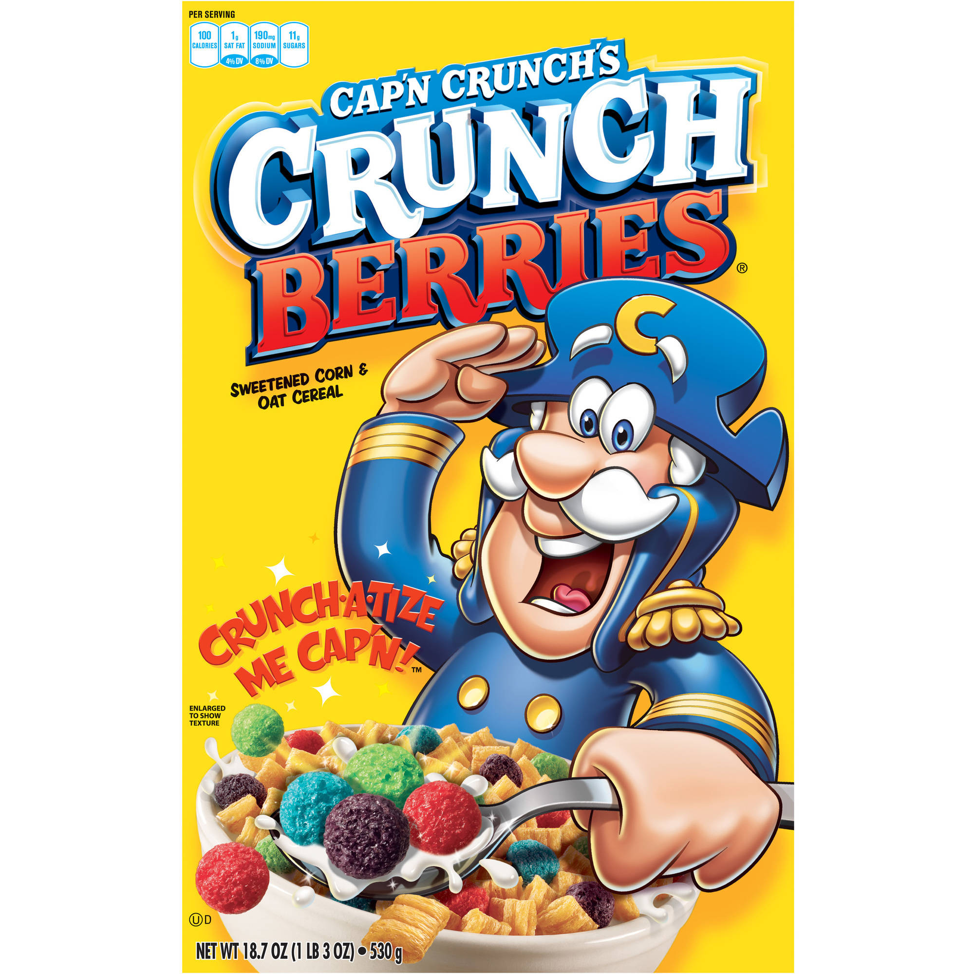 Quaker Cap'n Crunch Crunch Berries Cereal, 18.7 oz