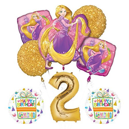 NEW! Tangled Rapunzel Disney Princess 2nd BIRTHDAY PARTY Balloon - Rapunzel Birthday Party