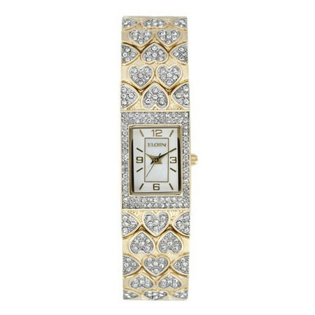 Crystal Accented Heart Watch (Elgin Women's Heart Crystal Accented Watch )