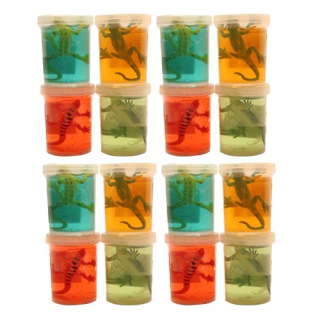 BULK - 12 Lizard Slimes - Fun Slime with Reptile Figurine - Putty - Goo - Party Favors and Goodie Bags](Favor Boxes Bulk)