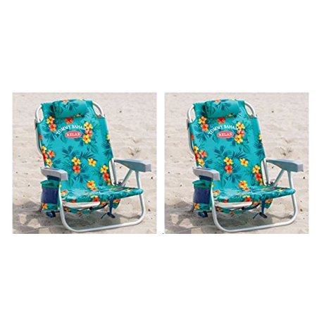 2 Tommy Bahama Backpack Cooler Chair With Storage Pouch