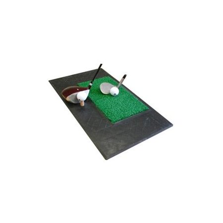Forgan Golf Chip & Drive Mat - 2 ft Rubber/Turf Area & rubber tee Golf Tee Mats