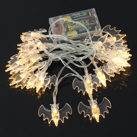 20 LED Bat String Lights Halloween Fairy Party Restaurants Bar Garden Home Christmas  Window Hanging Decor (Battery is not included) (Nashville Bars Halloween Parties)