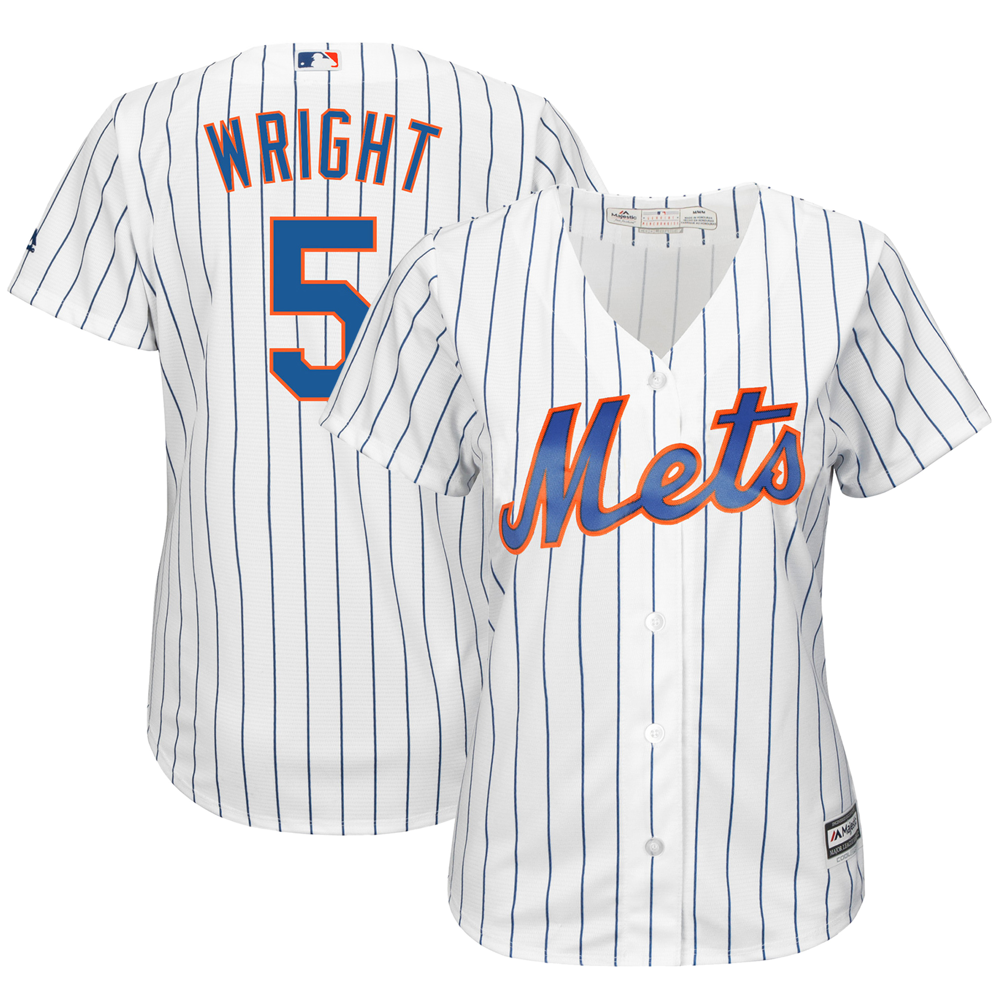 finest selection da733 1a4a1 David Wright New York Mets Majestic Women's Cool Base Jersey ...