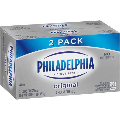 Kraft Philadelphia Original Cream Cheese, 8 oz (Pack of, 2)