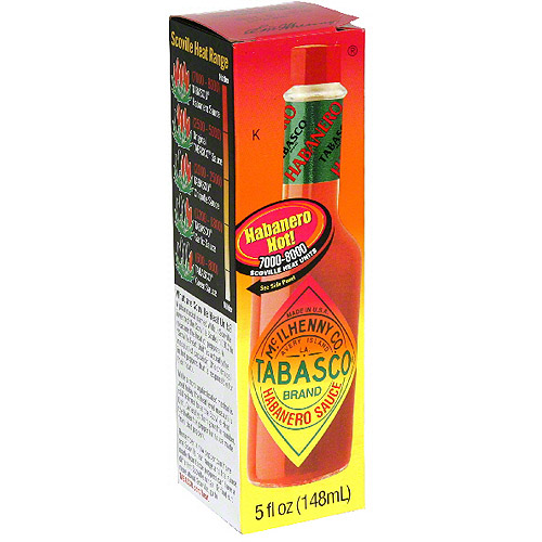 Tabasco Brand Habanero Sauce, 5 oz (Pack of 12)