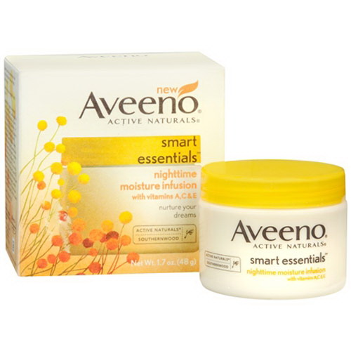Aveeno Active Naturals Smart Essentials Nighttime Moisture Infusion Cream - 1.7 Oz