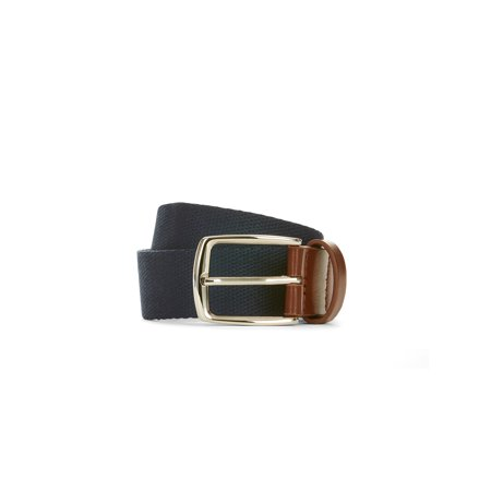 LPLP Linea Pelle Men's Webbing Belt (Linea Pelle Black Belt)