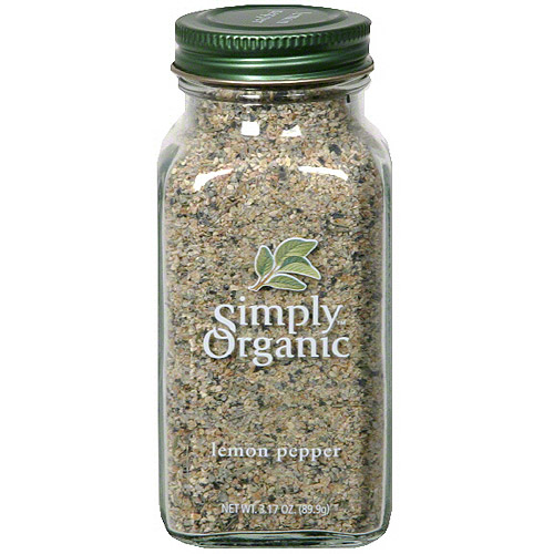 Simply Organic Lemon Pepper, 3.17 oz (Pack of 6)