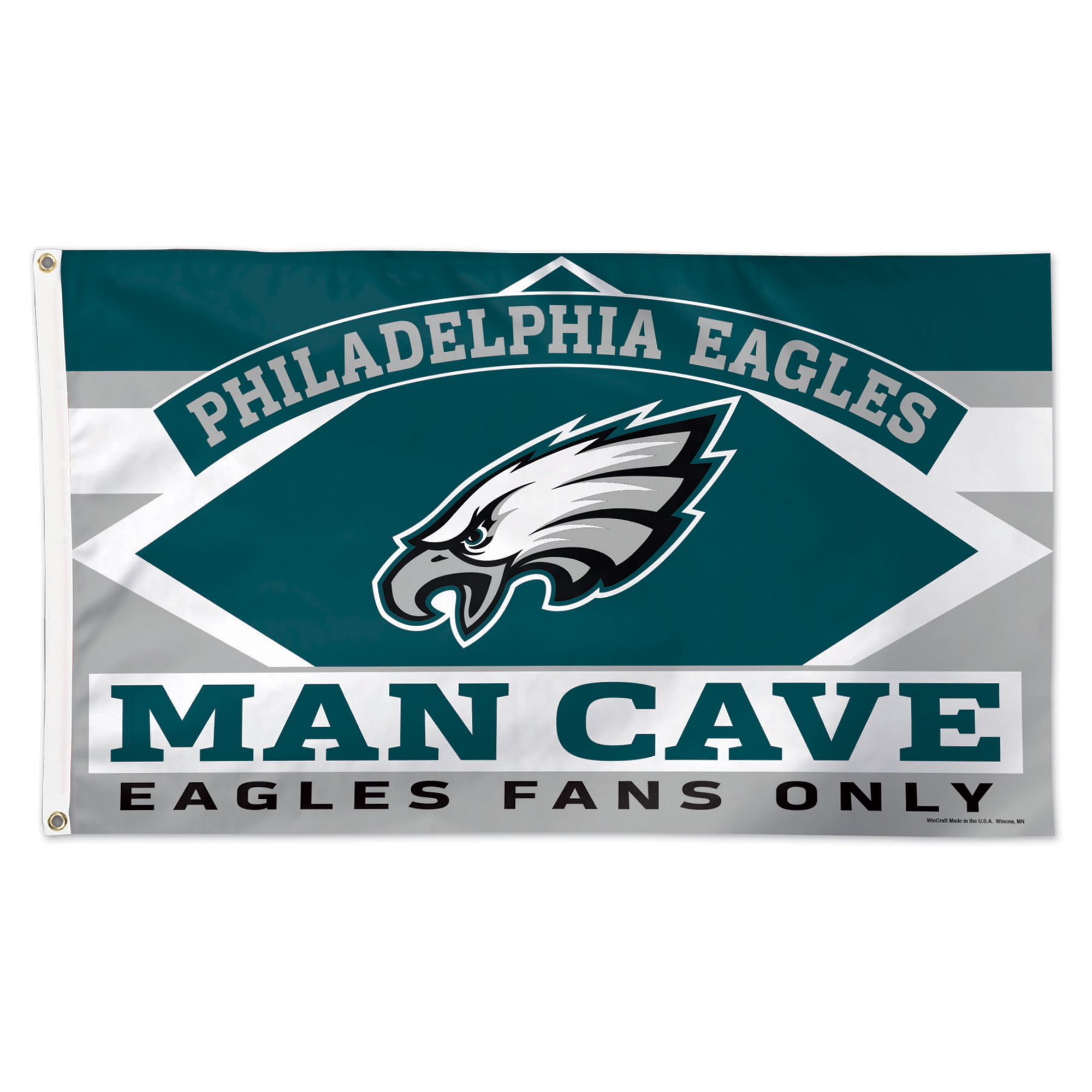 Philadelphia Eagles WinCraft 3' x 5' Deluxe Man Cave Single-Sided Flag - No Size