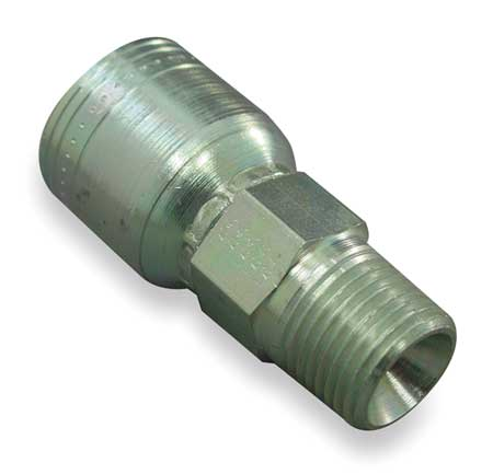EATON 1AA6MP8 Fitting, Straight, 1/2 In Hose, 3/8-18 NPT