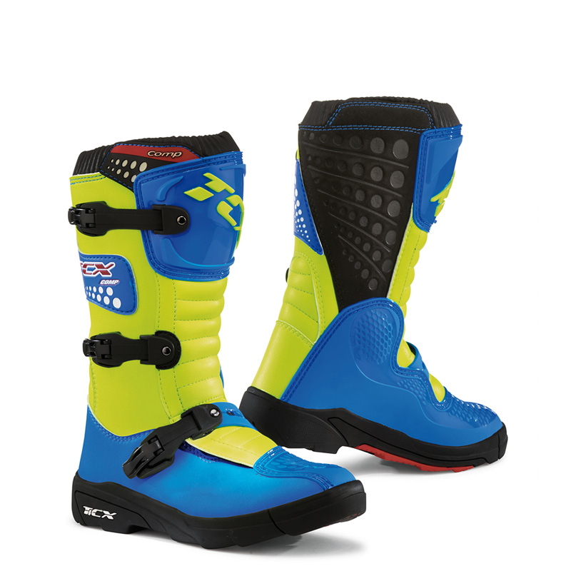 TCX Comp Kid Youth Boots, Royal Blue/Yellow Fluo, Size:29