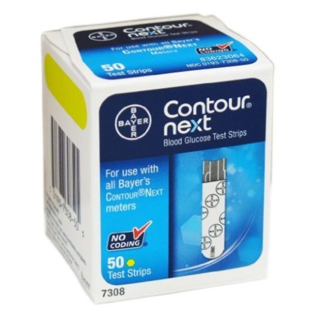 NEXT BLOOD GLUCOSE TEST STRIPS - 50, CONTOUR NEXT test strips are only compatible with Bayer