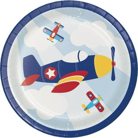 Creative Converting Toy Airplane Dessert Plates, 8 ct