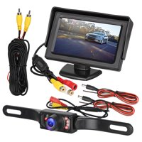 Rearview Car LCD Monitor Camera,EEEkit 4.3 Inch Backup Camera LCD Display Waterproof Support IR Night Vision,170'Viewing Angle,Fits Car Camera, DVD, VCD, STB, Satellite Receiver