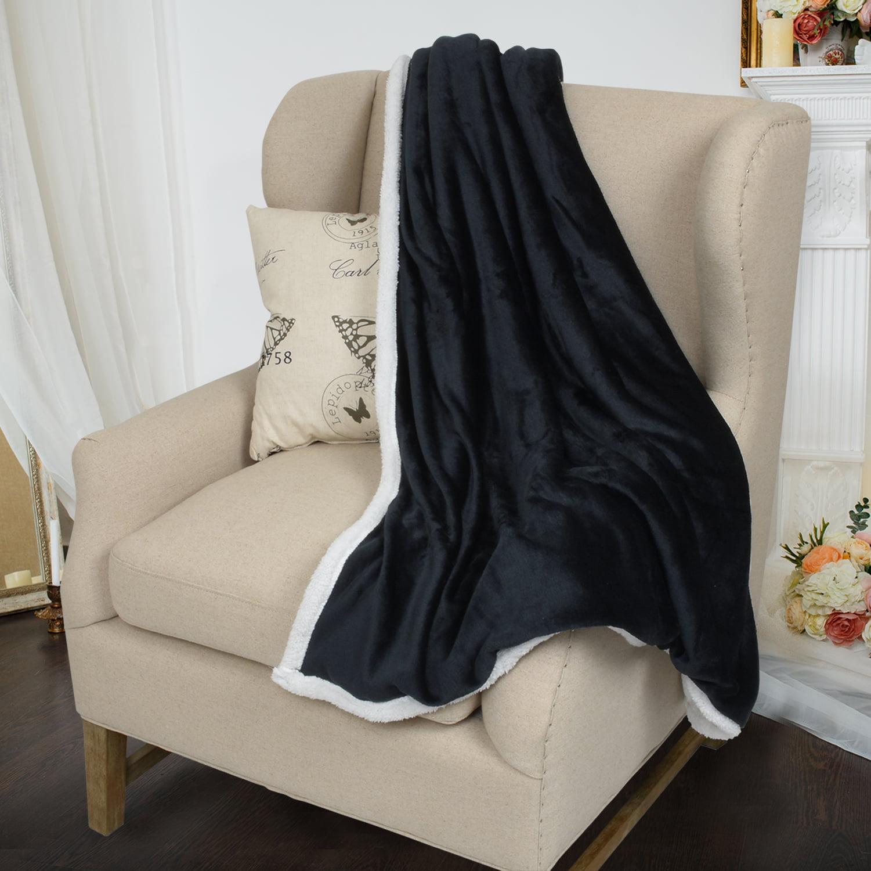 "Sherpa Blanket, Fleece Throw Blanket Reversible Bed Throw TV Blanket, Super Soft Micro Mink Fleece Couch Blanket by Catalonia 60""x50"""