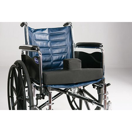 Secure Wheelchair Wedge Pommel Seat Cushion w/Safety Strap - Convex Bottom - Low Profile Pommel for Comfort & Easier Transfer - One Year Warranty