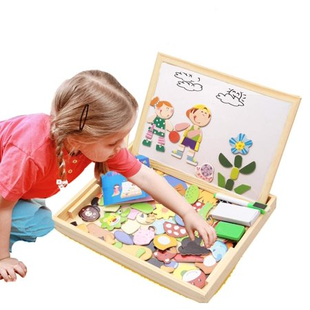 Cute Baby Halloween Ideas (ODDODDY Educational Wooden Toys for Girls Boys Kids Children Toddlers Magnetic Drawing Board Puzzles Games Learning for Age 3 4 5 6 7 8 9 Year Old Gift Idea Birthday)