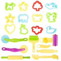 New Colorful ULTNICE Play Doh Kits 20pcs Smart Plasticine dough Tools for children to play games