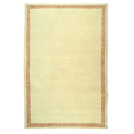 Safavieh Nepalese Collection SZK231B Hand-Knotted Cream and Rose Wool & Silk Area Rug (4' x 6')