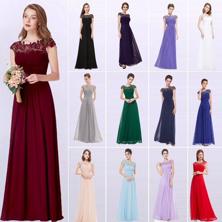 Ever-Pretty Womens Vintage Floral Lacey Long Formal Evening Party Prom Dresses for Women 99933 Burgundy (Ladies Dresses To Wear To A Wedding)