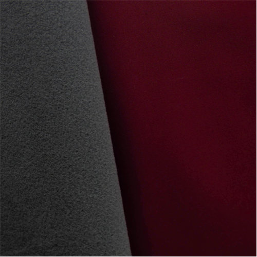 Soft Shell Fleece - Wine Red/Gray, Fabric By the Yard