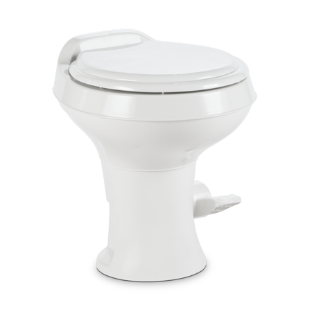 Dometic 302300071 300 Series Standard Height Heavy Duty Plastic RV Toilet, White