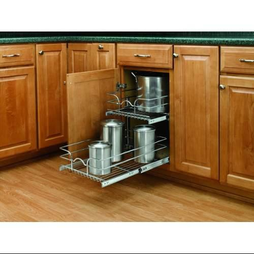 Rev-A-Shelf  5WB2-1522  Pull Out Organizers  5WB  Base Cabinet Organizers  Baskets  ;Chrome
