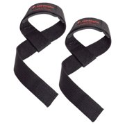 Harbinger Padded Cotton Lifting Straps with NeoTek Cushioned Wrist (Pair), Black