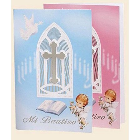 pink mi bautizo spanish baptism 10 invitations with envelopes