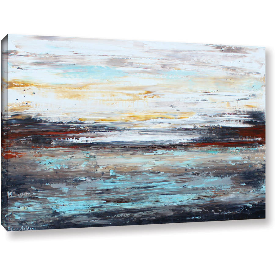 """ArtWall Jolina Anthony """"Abstract Cold"""" Gallery-Wrapped Canvas"""