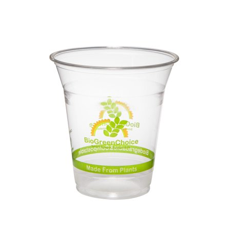 - BioGreenChoice 12 oz Compostable Clear PLA Cold Cup (printed) - BGC-324