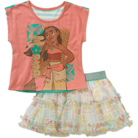 dad0047fb2b0 Disney Princess - Baby Toddler Girls' T-Shirt and Skirt Outfit Set ...