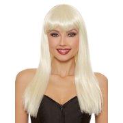 Dreamgirl Women's Long Straight Platinum Blonde Wig