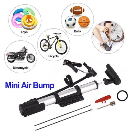 Pump Weight - EEEKIt Mini Bike Air Pump Portable Aluminum Lightweight Bicycle Pump, Ball Basketball Soccer Tyre Inflator