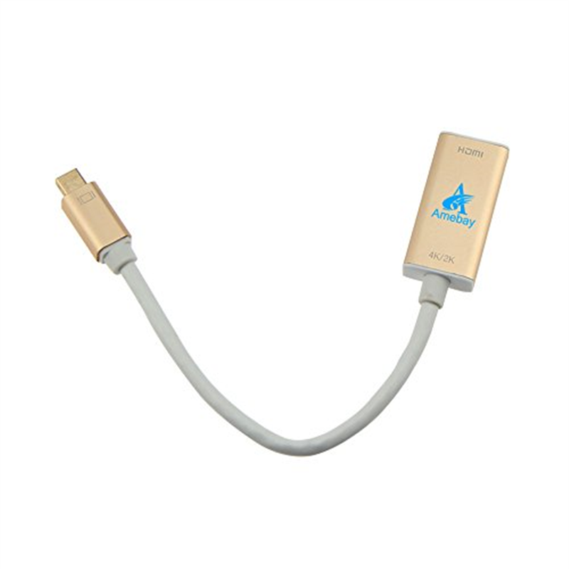 Amebay 4K Mini Display Port to HDMI Cable Thunderbolt Compatible for Macbook
