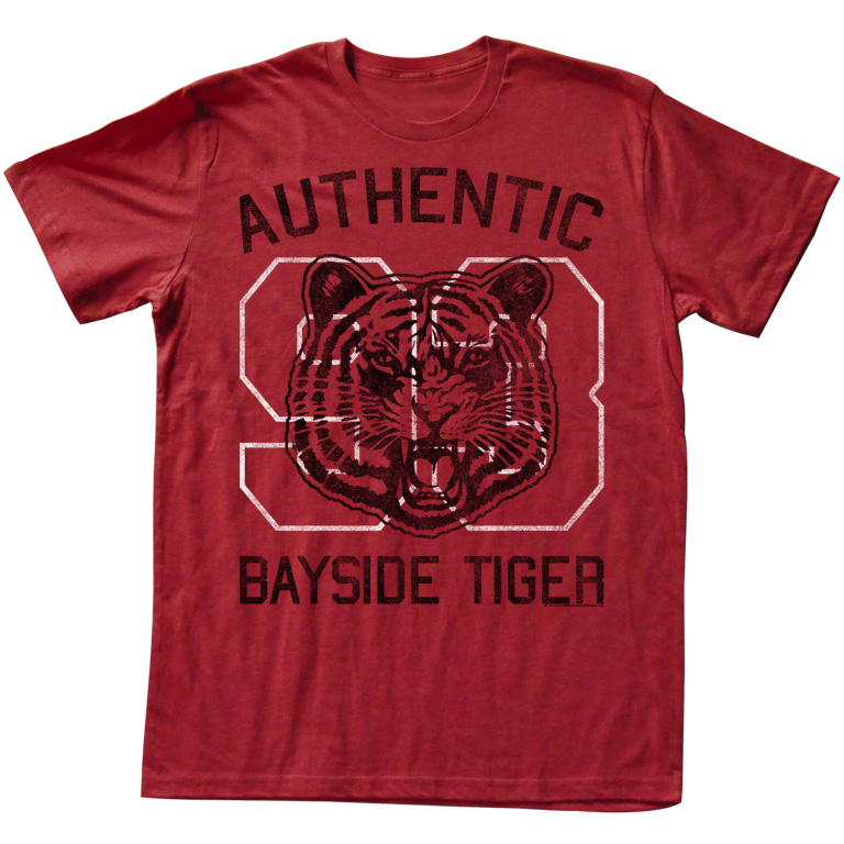 Saved By The Bell 80's Comedy Sitcom Bayside Tiger Authentic Red Adult T-Shirt - image 1 of 1