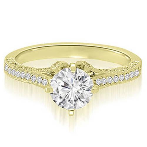 """1.50 cttw. 18K Yellow Gold Round Cut Diamond Engagement Ring (I1, H-I)"""
